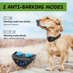 Stop Barking Collar - Sound Vibration or Static - Rechargeable